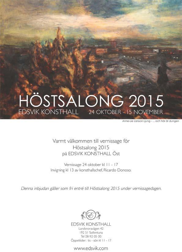 Inbjudan Höstsalong 2015